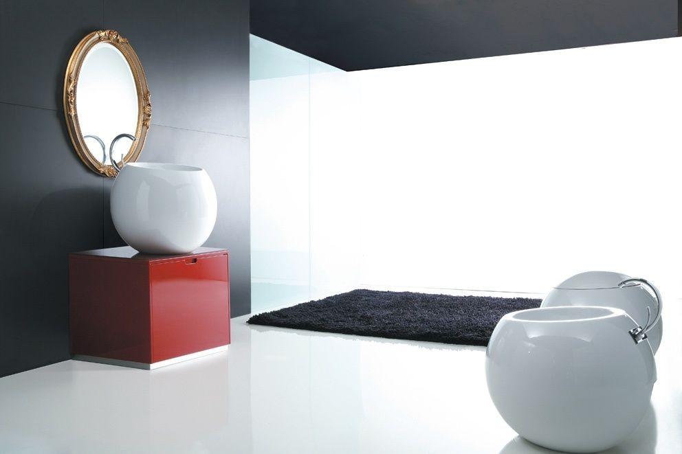 Disegno Ceramica Sfera Prezzi.Vaso Sfera Disegno Ceramica Tutto Bianco Con Copri Vaso